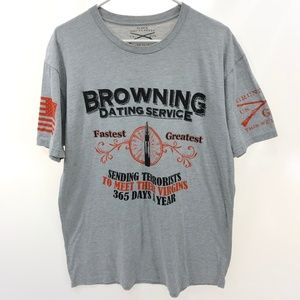 GRUNT STYLE BROWNING Dating Service Men's XL Gray